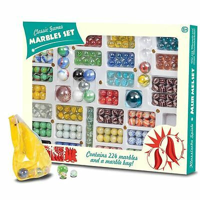 224 Piece Classic Marble Set - Boxed Retro Vintage