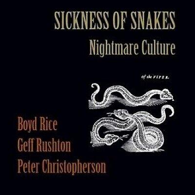 SICKNESS OF SNAKES Nightmare Culture - LP / Black Vinyl - (Boyd Rice - Coil)