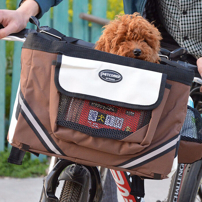 Portable Pet Dog Cat for Bicycle Bike Carrier Travel Seat Bag Transporter