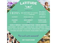 2 x tickets to SOLD OUT LATITUDE FESTIVAL - Sat 15th July, Suffolk - Mumford & Sons headlining
