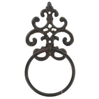 Cast Iron Scroll TOWEL HOLDER HOME DECOR RUSTIC BATHROOM Scroll Wall Towel -