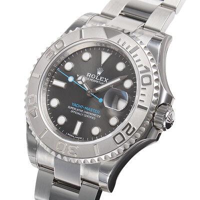 Rolex Yacht-Master 116622 Stainless Steel Platinum Bezel Rhodium Dial 40mm Watch