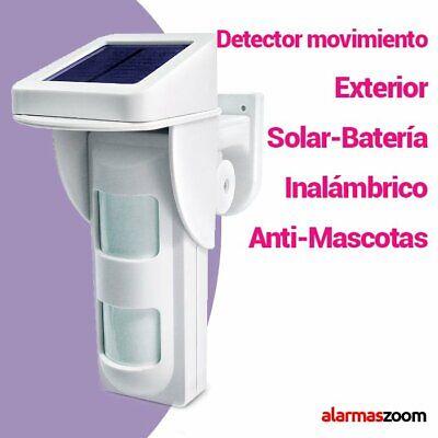 Detector de movimiento exterior inalambrico solar alarma PT40DP Sensor exterior