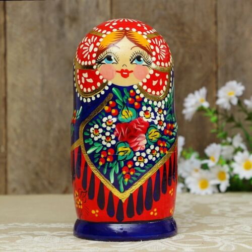 Matryoshka beauty culture of Russia souvenir made of wood free shipping