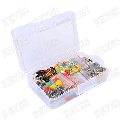 New Electronics Components Starter Kit Led Breadboard Switch Button For Arduino