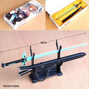 Cosplay Sword Art Online Kirito Anime Manga Metall Schwert Set L,30cm Neu