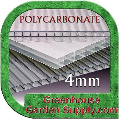 POLYCARBONATE CLEAR 4mm SHEETS  2ft x 5ft - 2 Pack for Greenhouse Cover