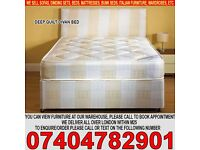 BRAND NEW Single/Double/Kingsize Divan Bed with 9inch Sprung-Based Mattress-Small Double