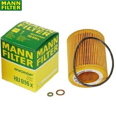 For BMW E60 E61 E84 E85 E90 E91 E92 E93 X5 Oil Filter Mann 11427541827MN HU816X