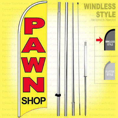 Pawn Shop - Windless Swooper Flag Kit 15 Feather Banner Sign Yb-h
