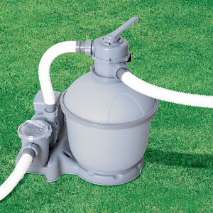 1500gph Bestway Sand Filter Pump 58404 for Above Ground Swimming Pool
