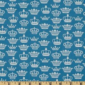 London by Makower Crown Fabric 100% Cotton  FQ