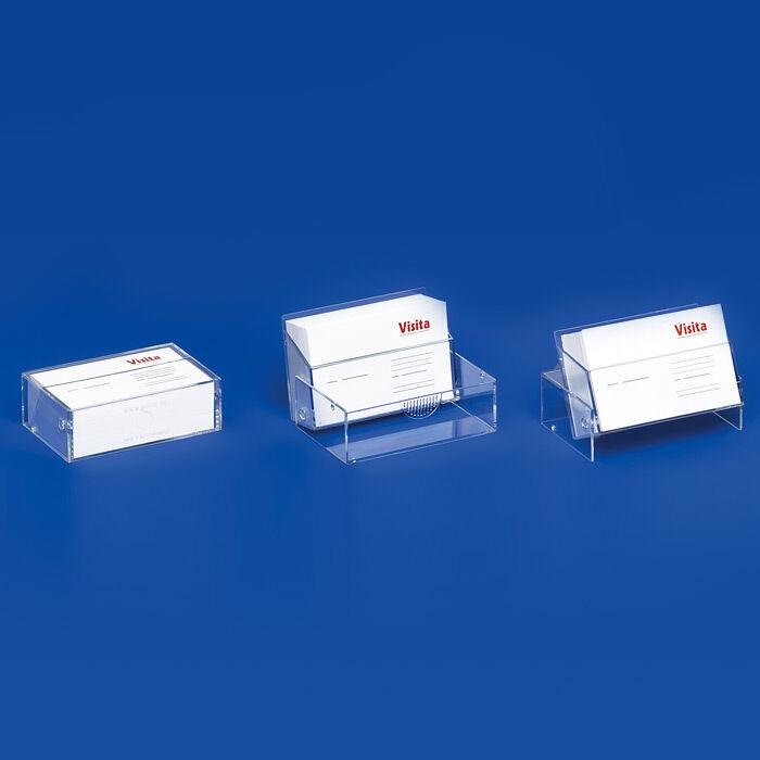 5 x Visitenkartenständer - Spender - Etui - Halter