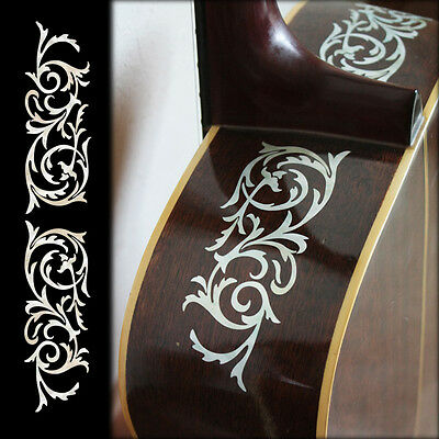 L&R Ornamental Swirl Inlay Sticker Decals For Acoustic Guitar
