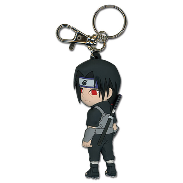 Naruto Chibi SD Itachi Anti-Leaf Ninja Anbu Fighting Gear PVC Key Chain Licensed