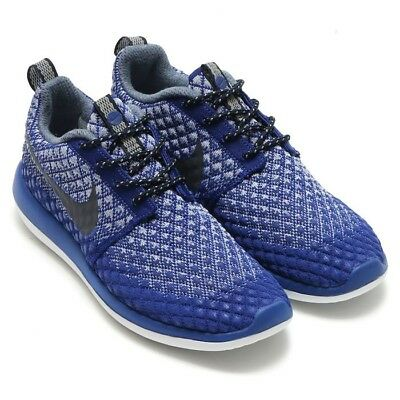 Women's NIKE ROSHE TWO FLYKNIT Trainers Deep Royal Blue Clr Size UK 5 - EU 38.5*