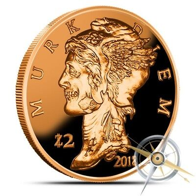 1 oz Copper Round - Murk Diem Zombucks