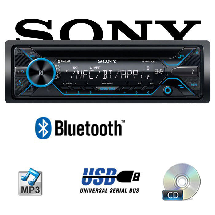 Sony Autoradio 4x55Watt Bluetooth Telefon Telefonieren Freisprechen USB CD Radio