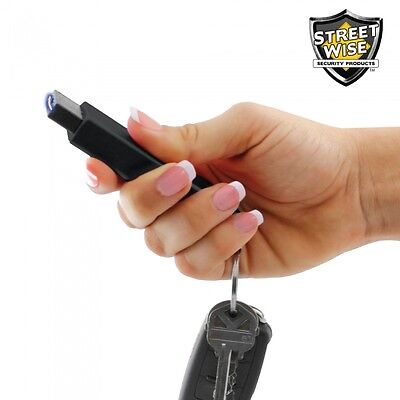 Self Defense Stun Gun Black Mini Smack Smallest Self Defense Key Led Flashlight