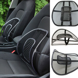 Top Black Mesh Lumbar Back Brace Support Office Home Car Seat Chair Cushion Cool