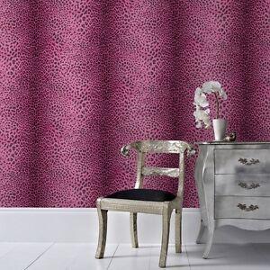 leoparden tapete pink ebay. Black Bedroom Furniture Sets. Home Design Ideas