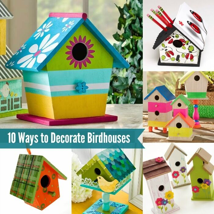 10 Fun Ways To Decorate Wood Birdhouses Ebay