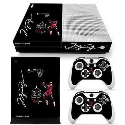 Xbox One S Air Jordan 23 Console & 2 Controllers Decal Vinyl Skin Sticker XB1 for sale  Shipping to India