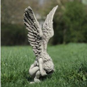 steinfigur engel gartenfiguren skulpturen ebay. Black Bedroom Furniture Sets. Home Design Ideas