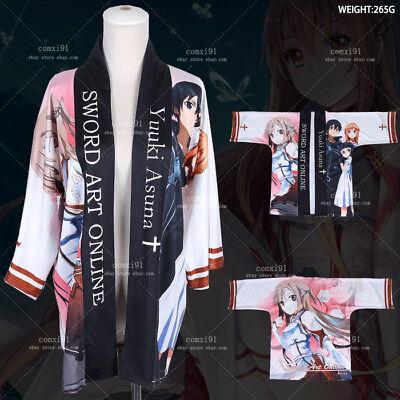Sword Art Online Anime Kimono Cosplay Costume Yukata Unisex Outerwear Haori Coat