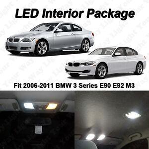 10x white smd led interior lights kit for 2006 2011 bmw 328i 335i m3 ebay. Black Bedroom Furniture Sets. Home Design Ideas