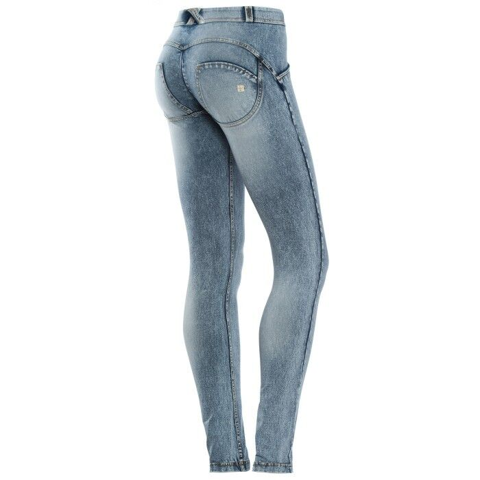 SCONTO 30% FREDDY WR.UP JEANS STONE WASH PANTALONE LUNGO S L PUSH UP WRUP1RV6E