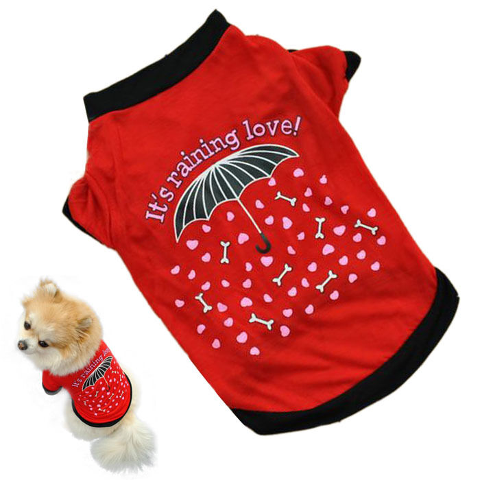 Unisex Pet Winter Clothes Puppy Dog Cat Vest Dress Sweater Apparel T Shirt aAB D