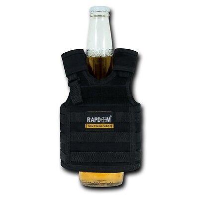 Black Tactical Military Army Vest Beer Soda Bottle Coozie Coolie Koozie Koozies