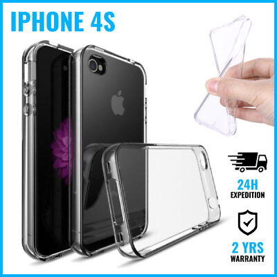 Transparent Cas Clear Gel Soft Flexi Case Cover Etui Coque Hoesje For iPhone 4S Flexie Soft Case