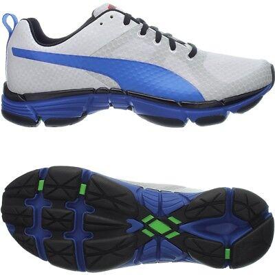 Puma Mobium Ride weiß/blau Herren-Runningschuhe Fersenläufer Adaptive Fit NEU   ()