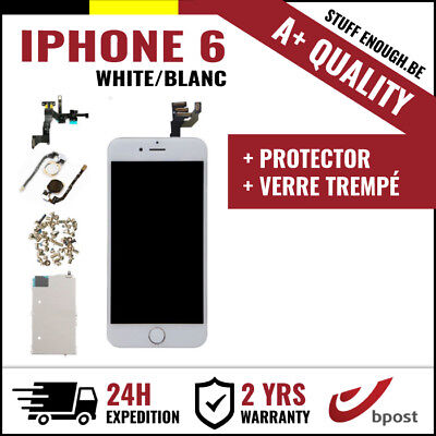 A+ LCD TOUCH SCREEN SCHERM ÉCRAN ASSEMBLY WHITE BLANC +VERRE TREMPÉ FOR IPHONE 6