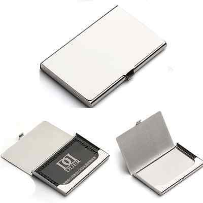 Stainless Steel Silver Aluminium Business Id Credit Card Holder Pocket Box Case.