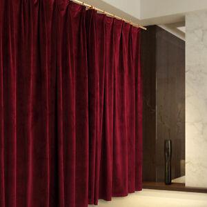 A Pair Burgundy Vintage Style Velvet Curtains 2x210cmx213cm Drop Ac219b