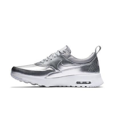 Nike Air Max Thea women's size 7.5 in metallic silver, platinum & white -$30 off