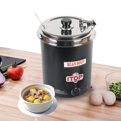 Commercial 5.7l Wet Heat Electric Soup Kettle Boiler Food Warmer 110v Restaurant
