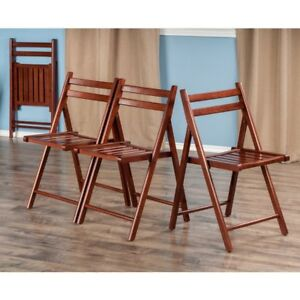 FOLDING WOODEN CHAIRS – BRAND NEW – 6 PER BOX – 24 AVAILABLE