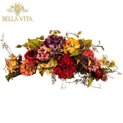 Rose Peony Floral Hydrangea Dahlia Swag Swanky Versatile Display Home Decor New