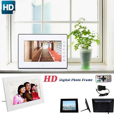 17.8cm HD LCD Digitaler Bilderrahmen mit Alarm Ständer Uhr Diashow MP3/4 Player