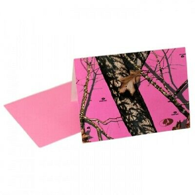 Mossy Oak Pink Camo Party Invitations, Wedding Birthday Note Cards Stationary