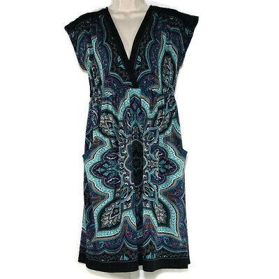 Low Waist Dress - Maurices Dress Low-Cut V-neck Elastic Waist Women Size M Pockets