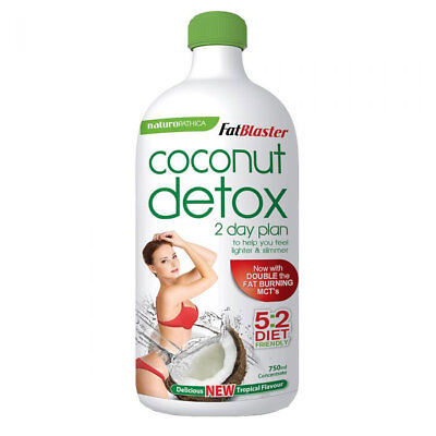 NATUROPATHICA FATBLASTER COCONUT DETOX 750ML 2 DAY PLAN WEIGHT LOSS (Naturopathica Fatblaster 2 Day Coconut Detox 750ml)
