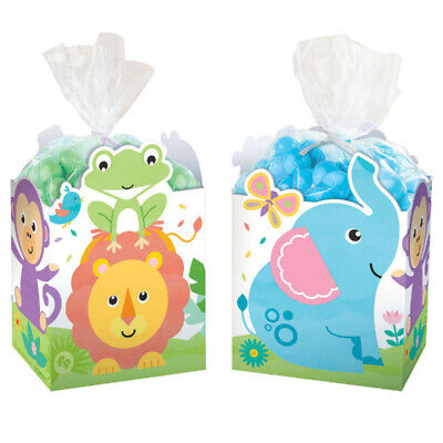 8 FISHER PRICE HELLO BABY FAVOR BOXES SAFARI JUNGLE BABY SHOWER BIRTHDAY PARTY - Fisher Price Jungle Baby Shower