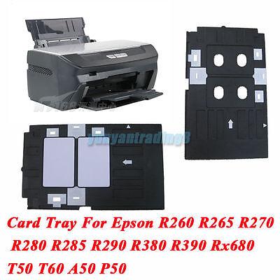 Plastic PVC ID Card Tray For Epson Inkjet Printer