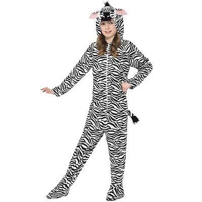 Childrens Fancy Dress Kids Zebra One Piece Costume Boys Girls Suit by Smiffys