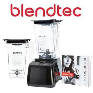 NEW BLENDTEC BLENDER 600 BLACK - 134421511 - WILDSIDE JAR AND FOUR SIDE JAR